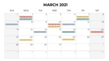 Calendars 2021 Monthly Sunday March
