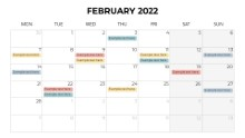 Calendars 2022 Monthly Monday February