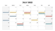 Calendars 2022 Monthly Sunday July
