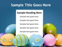Easter Greeting Message PPT PowerPoint presentation slide layout