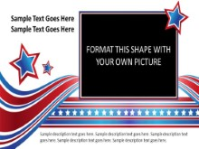 Widescreen Patriotic Picture Placeholder 2 PPT PowerPoint presentation slide layout