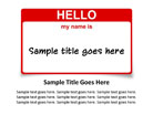Name Tag Red PPT PowerPoint presentation slide layout