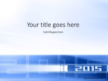 01 2015 Blue PPT PowerPoint Template Background
