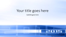 01 2015 Blue Widescreen PPT PowerPoint Template Background