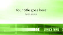 01 2015 Green Widescreen PPT PowerPoint Template Background