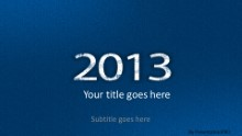 2013 Leathery Blue Widescreen PPT PowerPoint Template Background