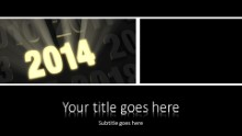 2014 Bright New Year Widescreen PPT PowerPoint Template Background