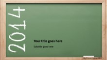 2014 Chalkboard Widescreen PPT PowerPoint Template Background