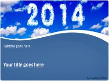 2014 Clouds PPT PowerPoint Template Background