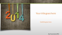 2014 Fabric Widescreen PPT PowerPoint Template Background