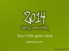 2014 Leathery Green PPT PowerPoint Template Background