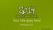2014 Leathery Green Widescreen PPT PowerPoint Template Background