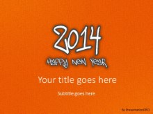 2014 Leathery Orange PPT PowerPoint Template Background