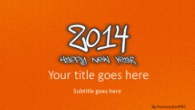 2014 Leathery Orange Widescreen PPT PowerPoint Template Background