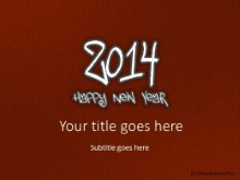 2014 Leathery Red PPT PowerPoint Template Background