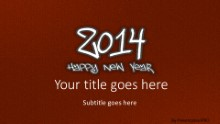 2014 Leathery Red Widescreen PPT PowerPoint Template Background