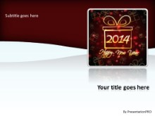 2014 New Year Gift PPT PowerPoint Template Background