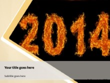 2014 On Fire PPT PowerPoint Template Background
