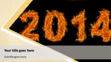 2014 On Fire Widescreen PPT PowerPoint Template Background