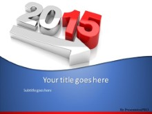 2015 Growth PPT PowerPoint Template Background