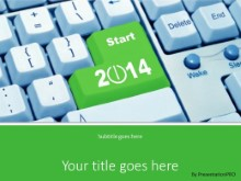 Enter New Year PPT PowerPoint Template Background
