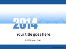 Meshy Blue 2014 PPT PowerPoint Template Background