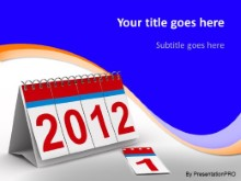 2012 Flip Cards PPT PowerPoint Template Background