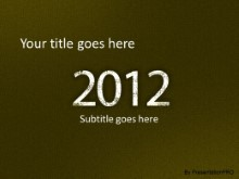 2012 Leathery Green PPT PowerPoint Template Background