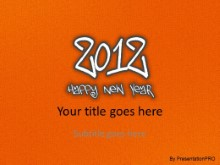 2012 Leathery Orange PPT PowerPoint Template Background