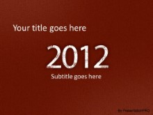 2012 Leathery Red PPT PowerPoint Template Background