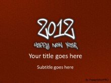 2012 Leathery Red2 PPT PowerPoint Template Background