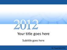 2012 Meshy Blue PPT PowerPoint Template Background