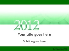 2012 Meshy Green PPT PowerPoint Template Background