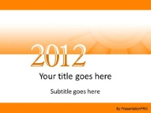 2012 Meshy Orange PPT PowerPoint Template Background