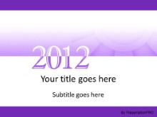 2012 Meshy Purple PPT PowerPoint Template Background
