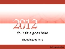 2012 Meshy Red PPT PowerPoint Template Background