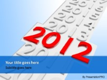 2012 Scroll Blue PPT PowerPoint Template Background