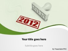 2012 Stamp1 PPT PowerPoint Template Background