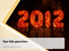 2012 on Fire PPT PowerPoint Template Background