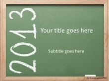 2013 Chalk Board PPT PowerPoint Template Background