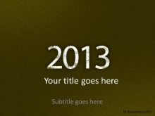 2013 Leathery Green PPT PowerPoint Template Background