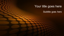 Dotted Waves 01 Orange Widescreen PPT PowerPoint Template Background