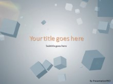 Falling Cubes PPT PowerPoint Template Background