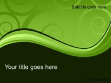 Download elegant swirl green PowerPoint Template and other software plugins for Microsoft PowerPoint