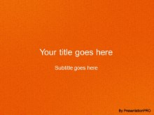 Download leathery orange PowerPoint Template and other software plugins for Microsoft PowerPoint