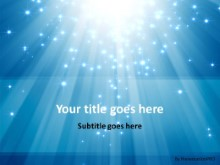 Shimmering Light Beams PPT PowerPoint Template Background