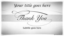 Thankyou 02 Gray Widescreen PPT PowerPoint Template Background