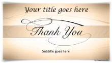 Thankyou 02 Tan Widescreen PPT PowerPoint Template Background