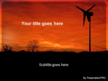 Download green energy turbine PowerPoint Template and other software plugins for Microsoft PowerPoint