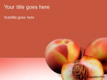 Download peaches PowerPoint Template and other software plugins for Microsoft PowerPoint